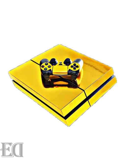 gadgets sony ps4 sticker gold