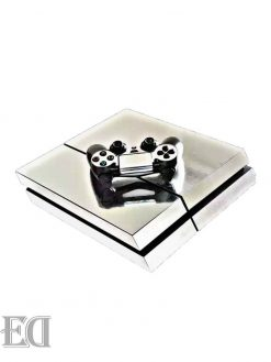 gadgets sony ps4 sticker silver