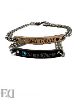 gift-couples-engrave-bracelet-black-with-gold-stone-pink