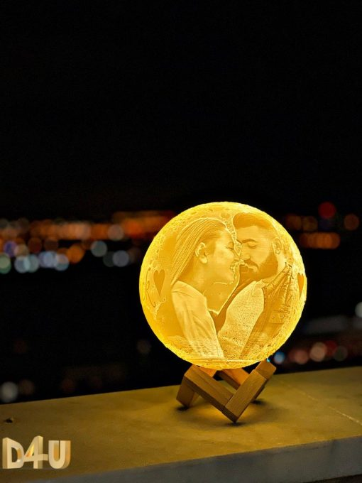 gift customized 3D moon lamp 3