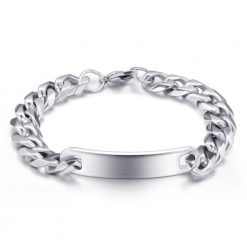 gift engraved customized silver bracelet