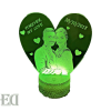 gifts heart customized night lamp engraved couples gifts gadgets