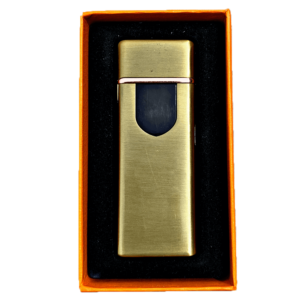 gold electric mini lighter