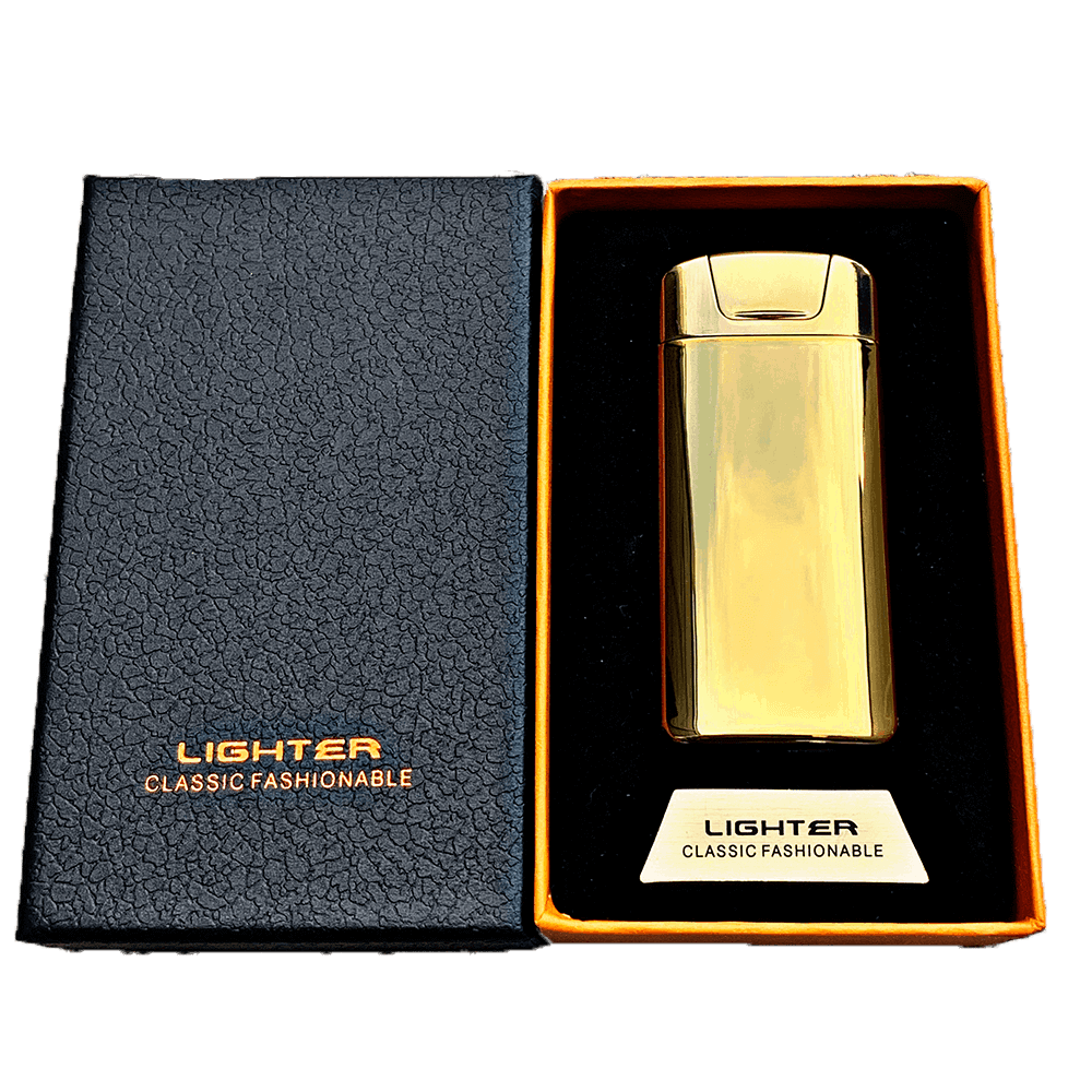 gold electric plasma lighter