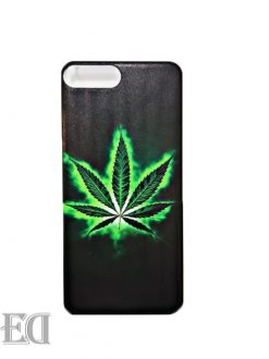 green cannabis phone case