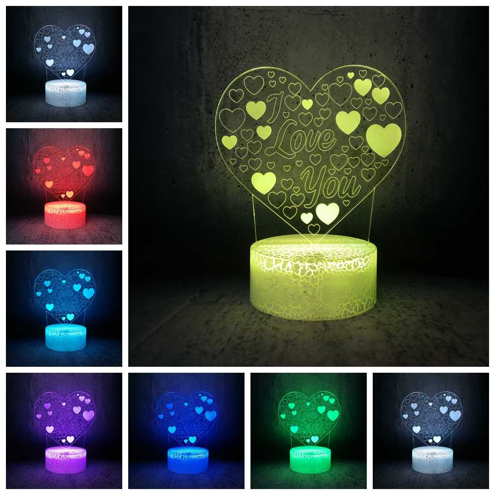 i love you night light changing colors