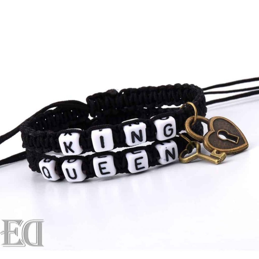 king queen bracelet black