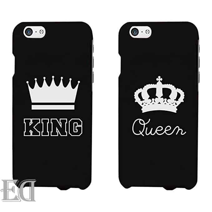 king queen phone case gift couples
