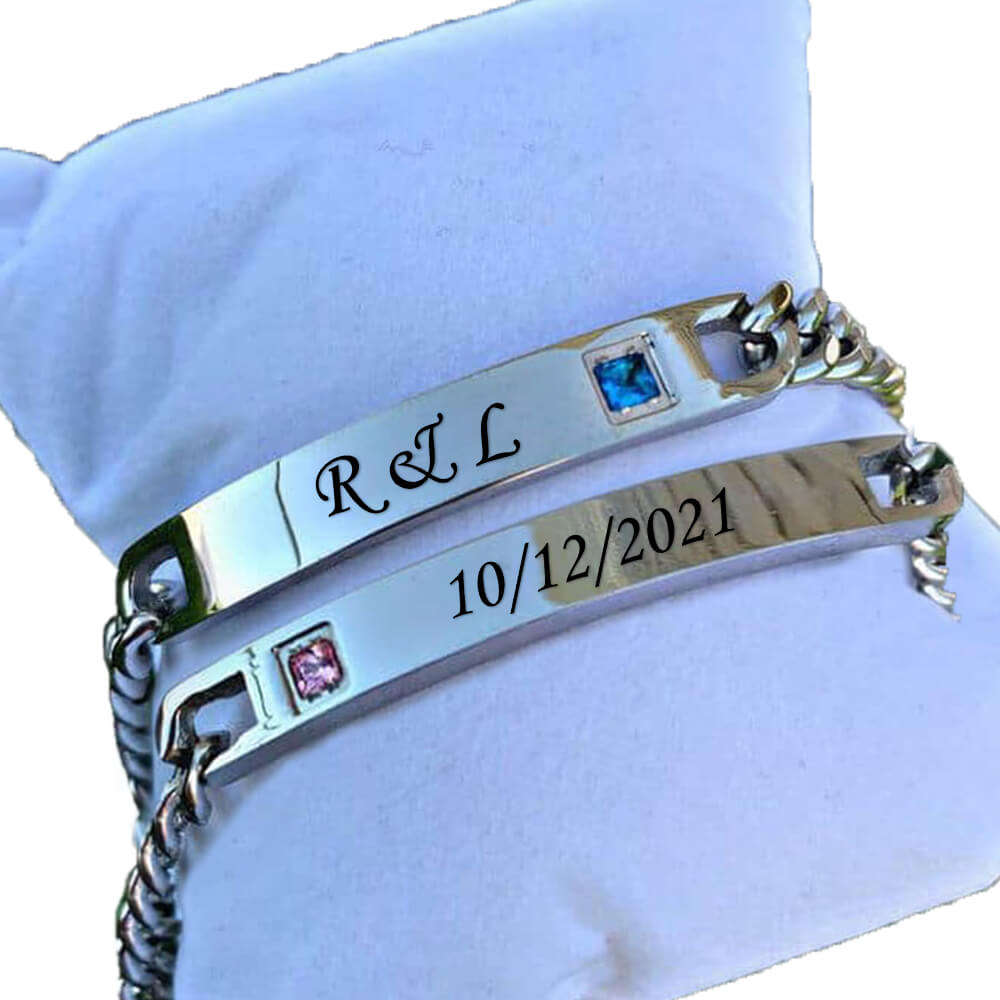 king queen silver custom bracelets