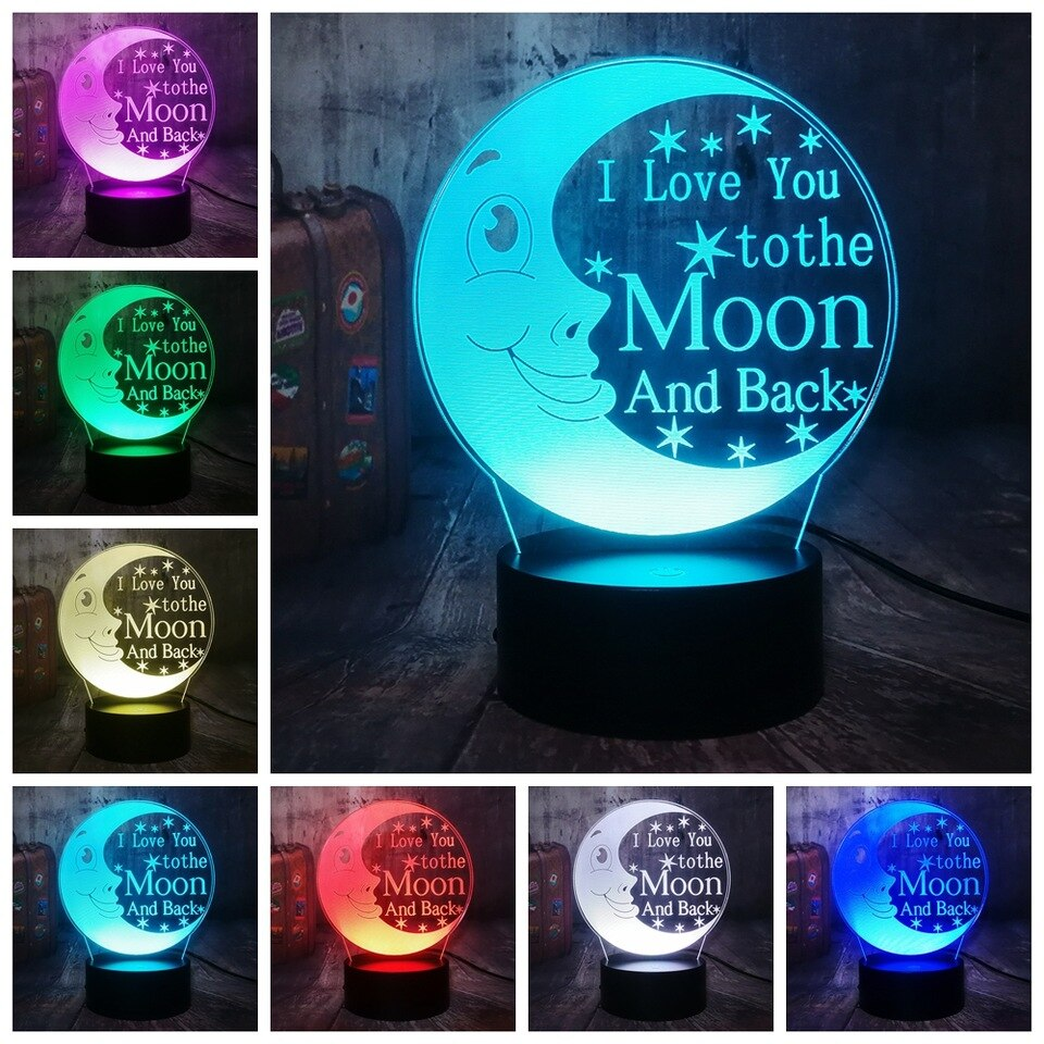love you to the moon and back night light changing colors