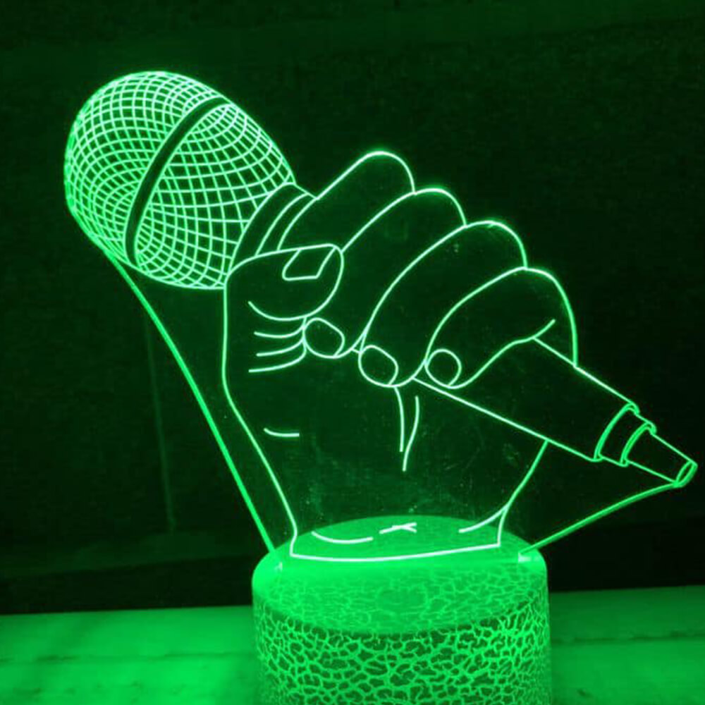 microphone night light karaoke changing colors