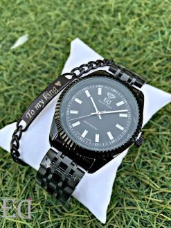 Gifts and gadgets ED men watch and bracelet-2