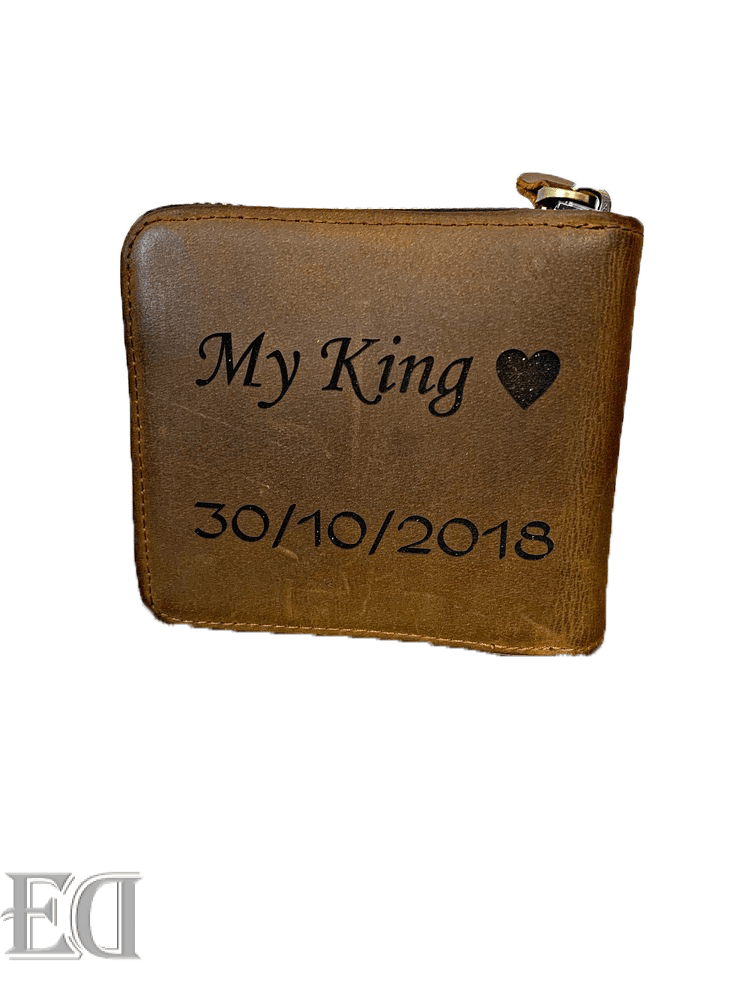self customized engraved wallet gift for men