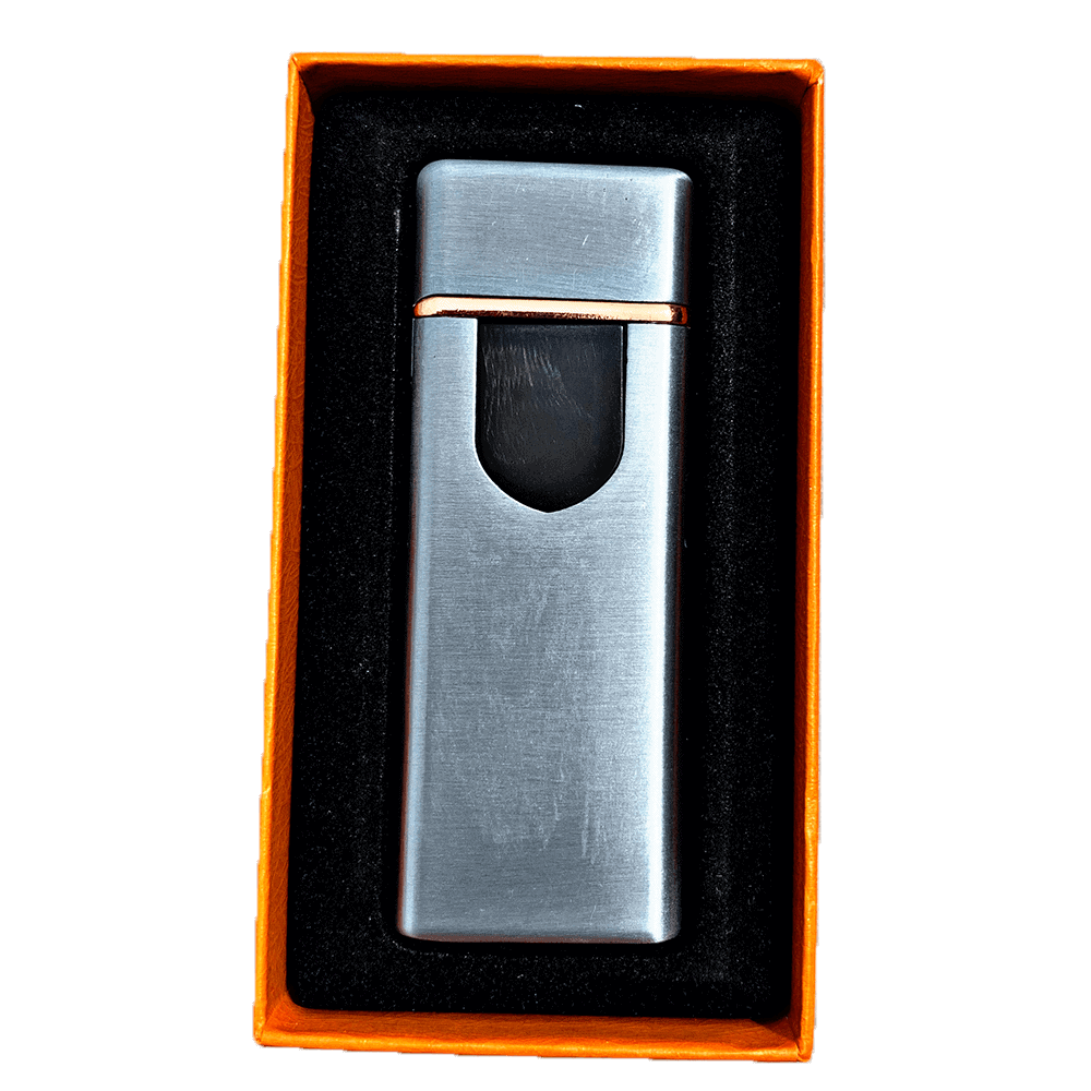 silver electric mini lighter