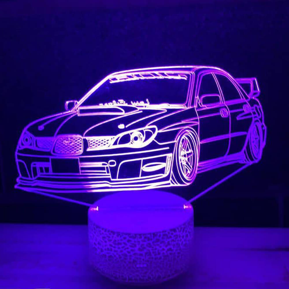 subaru car night light changing colors