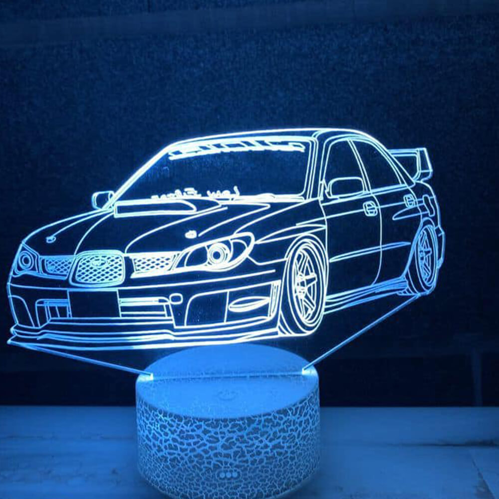 subaru racing car night light