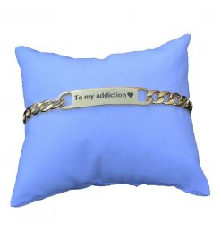 to my addiction gift engraved bracelet